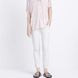 Vince white Boyfriend trousers size 4
